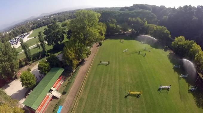 Una veduta del campo ''Piazza di Siena'' del Centro Militare di Equitazione