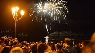 Fuochi d'artificio a Laveno