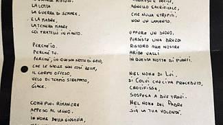 La copia della lettera intitolata 'In morte di un'amica' che l'assassino di Lidia Macchi
