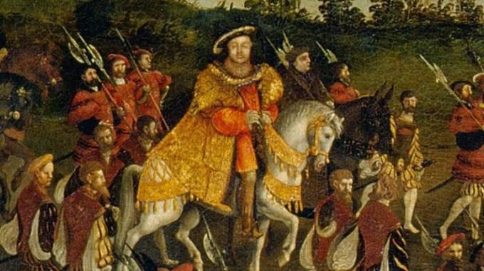 Enrico VIII a cavallo