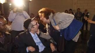 Francesco Nuti e Athina Cenci (foto Attalmi)