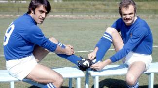 Sandro Mazzola (a destra) con Anastasi