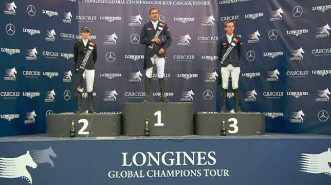 Estoril: il podio di questa sera (ph. LGCT Live TV)