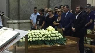 I funerali di Marco Santarelli
