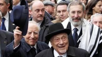 Il Presidente Carlo Azeglio Ciampi con un altro grande livornese, il Rabbino Elio Toaff