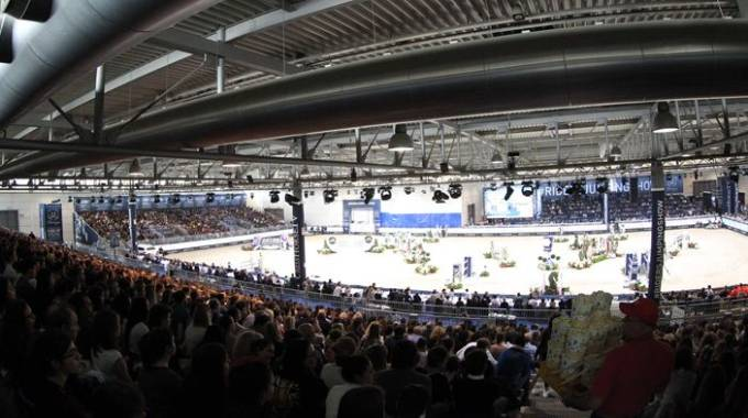 Jumping Verona: una panoramica dell'arena (ph. Stefano Grasso)