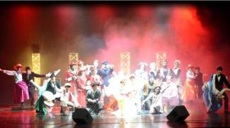 "Una scena del musical ""Mary Poppins"""