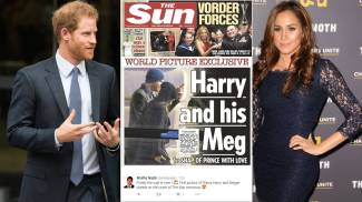 Harry e Meghan, la prima foto su The Sun
