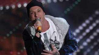 Clementino a Sanremo 2017 (Olycom)