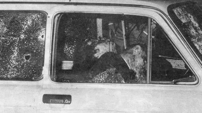 I corpi di Dalla Chiesa e della moglie Emanuela