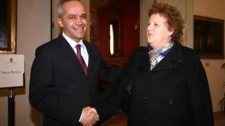 Metteo Piantedosi con Annamaria Candcellieri, era l'aprile del 2010 (Schicchi)