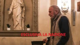 Rodolfo Fiesoli in chiesa a Diacceto