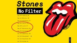 L'annuncio del concerto sul sito dei Rolling Stones