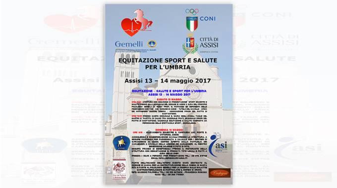 """Conto alla rovescia per """"Sport Equitazione e Salute"""": Assisi 13 e 14 maggio"""