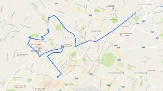 Il percorso del Giro d'Italia a Bergamo