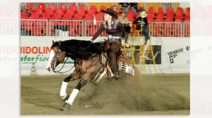 Gina Schumacher e Gotta Nifty Gun Campioni Mondiali YR di Reining  ©Arc TeamforYou/ABonaga