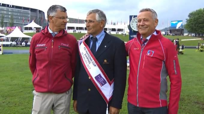 Da sinistra: Otto Becker, Roberto Arioldi, Andy Kistler (ph. FEI Live TV)