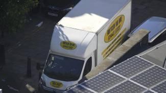 Il furgone usato per l'attacco