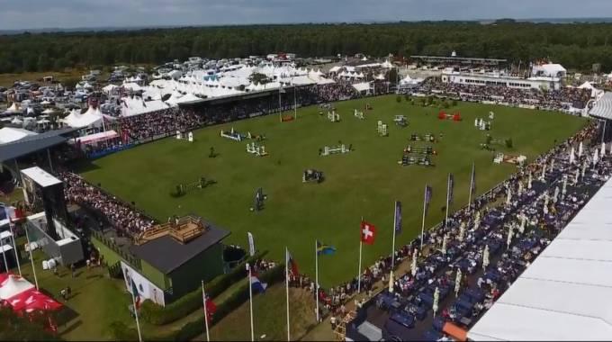 Falsterbo: panoramica del campo di gara (ph. FEI Live TV)
