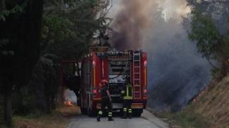 Incendio a Sant'Angelo in Vado (PU)