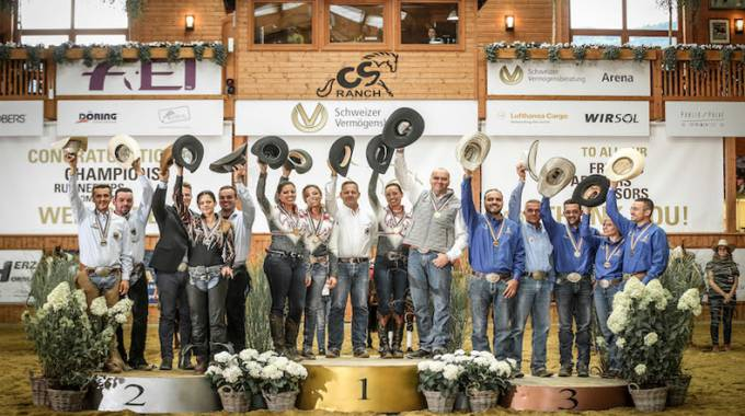 Italia di Bronzo ai Campionati Europei di Reining 2017 ©Fise/Bonaga