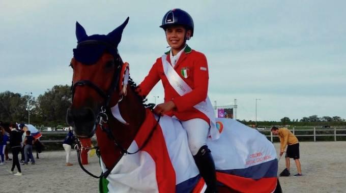 Il giovane campione d'Europa children 2017! (ph. FISE)