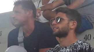 Domenico Berardi segue Fiorentina-Parma dalla tribuna