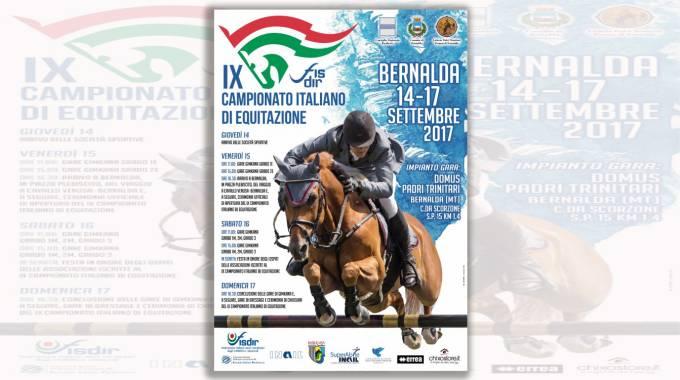 Sport Equestri: 9° Campionato Nazionale Fisdir, 14-17 settembre Bernalda (MT)