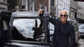 Londra, Giorgio Armani alla fashion week
