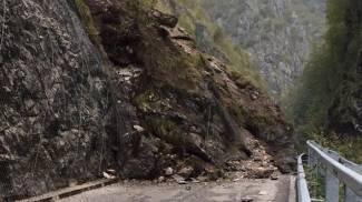 Frana sulla strada degli Orridi