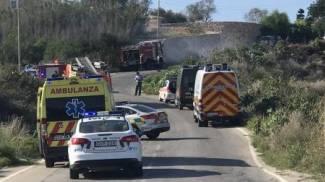 Il luogo dell'esplosione dell'auto della giornalista (Dire)