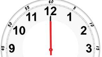 Orologio alle 12