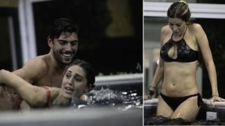 Cecilia, Ignazio e Aida in piscina