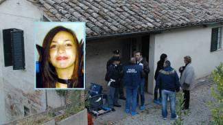 La casa del delitto e, nel riquadro, Meredith Kercher