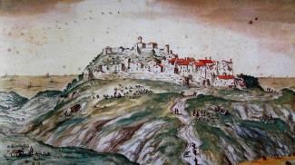 Il castello di Monte Copiolo in una visione del Seicento (autore: Mingucci)