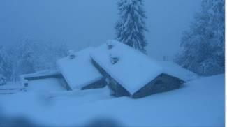 Neve a Poggio di Petto (Valbisenziometeo.it)