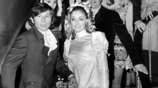 Sharon Tate e Roman Polanski dopo il loro matrimonio (Afp)