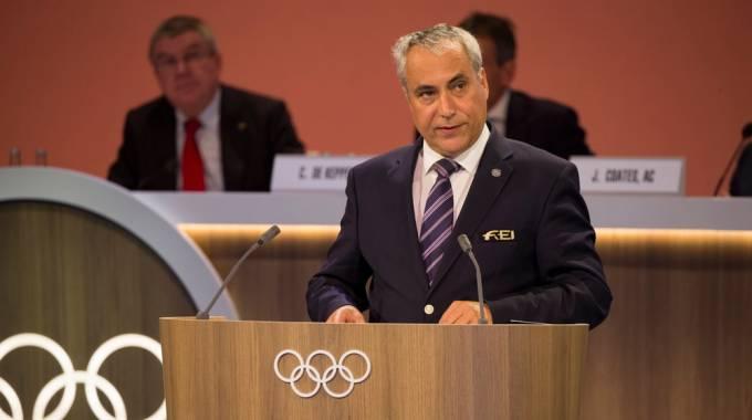 Il presidente della Fei Ingmar De Vos (ph. Greg Martin/IOC)