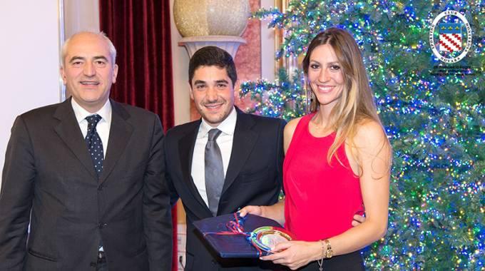 Dinner di Natale: Caudio Limontini, Federico Riso e Viola Novelloni ©SCMonterosa