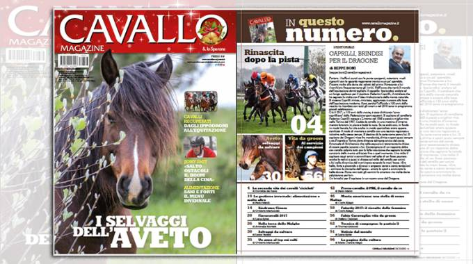 Cavallo Magazine di dicembre 2017 è in edicola