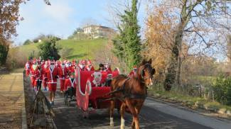 Corsa dei Babbi Natale (foto Franceschetti)