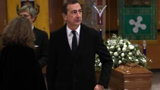 Il sindaco Giuseppe Sala alla camera ardente di Gualtiero Marchesi