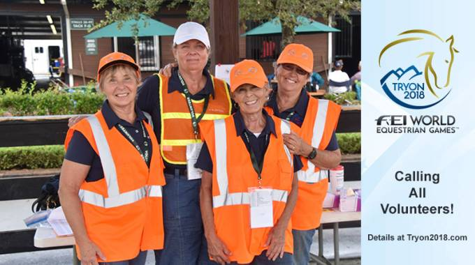 Volunteers Needed for FEI World Equestrian Games™ Tryon 2018