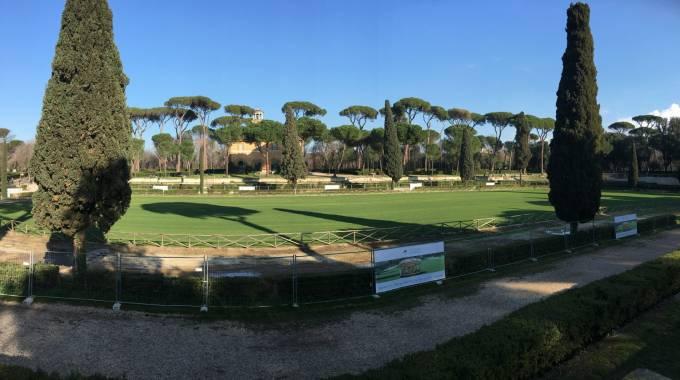 La 'nuova' Piazza di Siena in erba