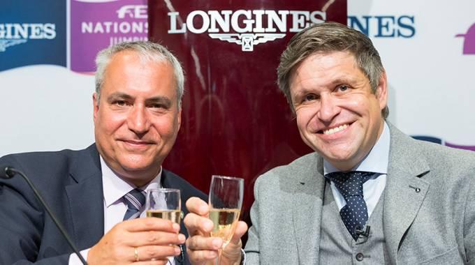 FEI Pres. Ingmar De Vos & Longines V.Pres. and Head of Int. Marketing Juan-Carlos Capelli