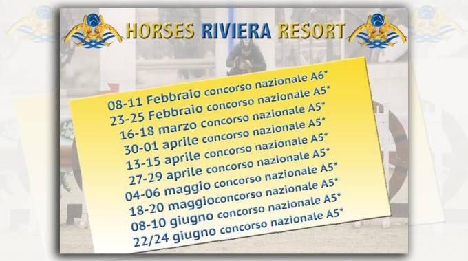 La stagione 2018 dell'Horses Riviera Resort comincia a febbraio con un nazionale A6*