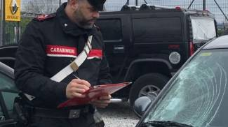 L'auto messa sotto sequestro dai carabinieri
