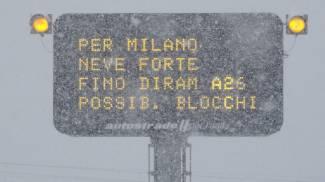 Neve, disagi in autostrada (Ansa)