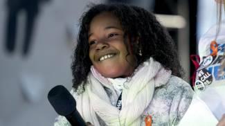 """Yolanda, 9 anni, nipotina di Martin Luther King. """"Sogno un mondo senza armi"""" (Ansa)"""