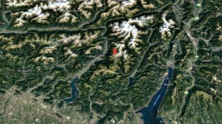 Google Maps illustra il punto in cui una valanga si è staccata (Ansa)
